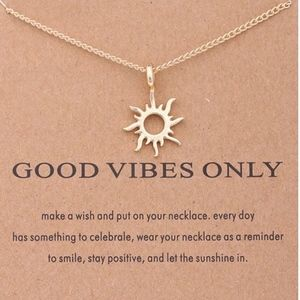 Restocked! Good Vibes Only Pendant necklace!